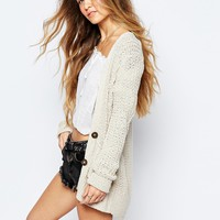 Hollister Core Patterned Boyfriend Cardigan