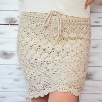 Crochet skirt, summer skirt with lining, beach sexy skirt, pencil skirt, lace skirt