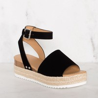 Weekend Platform Sandals - Black