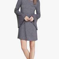 MARLED GRAY BELL SLEEVE TRAPEZE DRESS from EXPRESS