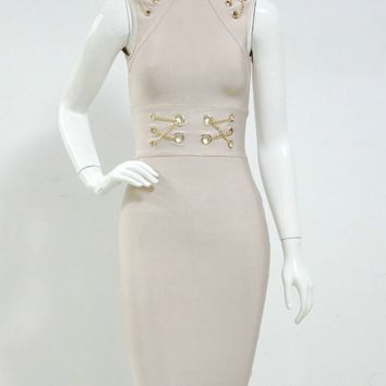 Tisha Beige Dress