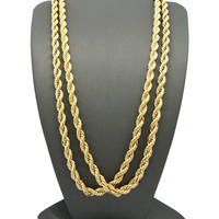 HIP HOP ROPE CHAIN NECKLACES SET