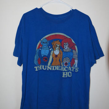Thundercats Tee Shirt, Vintage Tee Shirt, 80s Tee Shirt, Cartoon Tee Shirt, 80s Cartoon Shirt, 90s Grunge, Grunge Shirt, Size LG to XL
