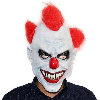 X Merry Toy Killer Clown Mask Adult Mens Latex R