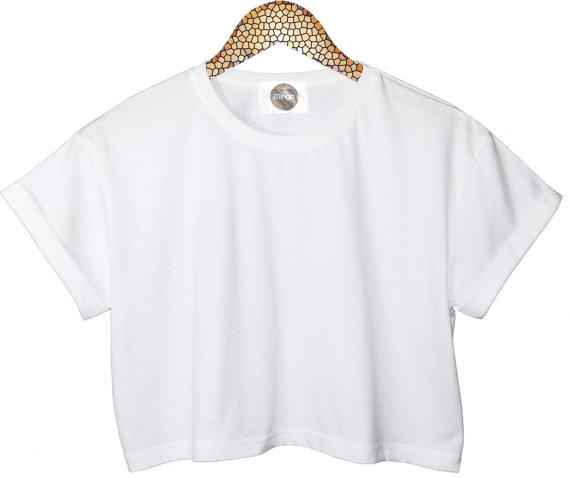 Crop top white black womens ladies plain from minga london epic