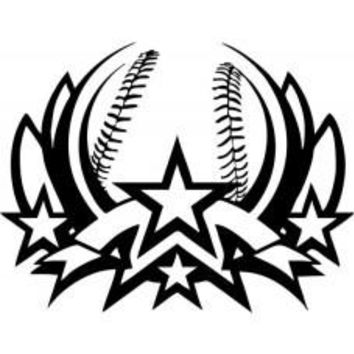 ALL STAR sport Logo Tail Vinyl Decal baseball Game car wall room sticker team MLB