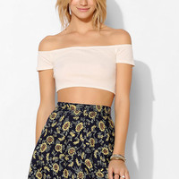 Ecote Ribbed Off-The-Shoulder Top - Urban Outfitters