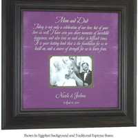 Parents Wedding Gift, Bride, Groom, Mr Mrs, MOM DAD, Sign, Frame, Reception, Shower, First Dance, song, lyrics, 16 X 16