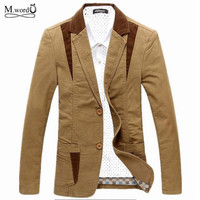 Brand autumn mens casual blazer suit men blazer cultivating cotton mens leisure blazer suits tide blazer big Asian size M-6XL