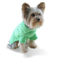 Stinky G Pistachio Green Dog Aran Sweater, #14 - L