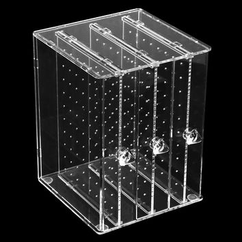 GENBOLI Acrylic Earring Display Stand Organiser Holder Earring Studs Storage Clear Jewelry Organizer Box Stand Rack 18*13*12.5cm