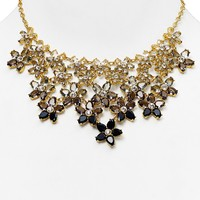 kate spade new york Ombre Bouquet Statement Necklace, 18""
