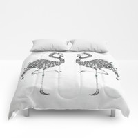 Poetic Flamingo Comforters by LouJah