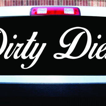Extra Large Dirty Diesel Car Truck Window Windshield Letter