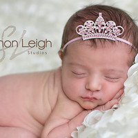 Pink Baby Tiara Baby Headband Newborn Headband Sweet Tiara Headband From The Sweet Baby Royalty Tiara Collection Stunning Unique Photo Prop