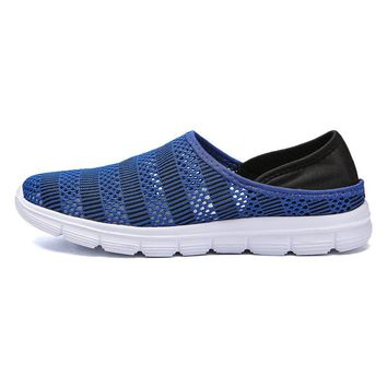 Men Mesh Collapsible Heel Sports Casual Shoes