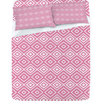 DENY Designs Home Accessories | Lisa Argyropoulos Diamonds Are Forever Blush Sheet Set