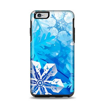 The Winter Abstract Blue Apple iPhone 6 Plus Otterbox Symmetry Case Skin Set
