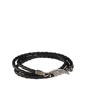 Simon Carter Plaited Leather Wing Bracelet Exclusive To Asos