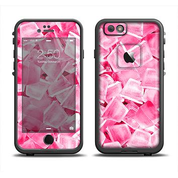 The Hot Pink Ice Cubes Apple iPhone 6 LifeProof Fre Case Skin Set