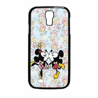 Mickey Kiss Minnie Disney Flowers Samsung Galaxy S4 Case