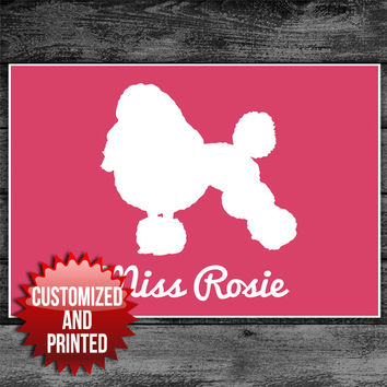 Poodle Personalized Custom Dog Art Poster Print