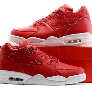 hcxx Nike Air Flight 89 Leather 828295-600 Fashion Causal Skate Shoes Red