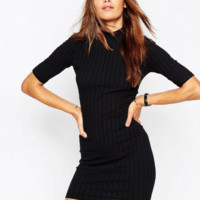 Black  knit Slim dress B0015582