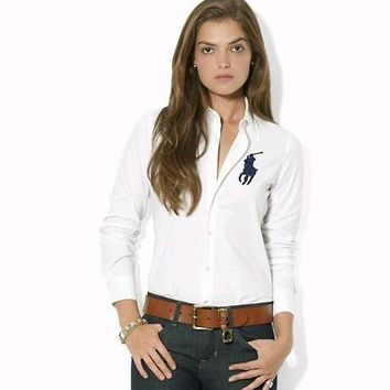 NEW POLO RALPH LAUREN SHIRT WOMEN SHORT SLEEVE T-SHIRT SIZE: S-XL-5