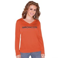 Women's Denver Broncos Touch by Alyssa Milano Orange Lana V-Neck Pullover Sweatshirt