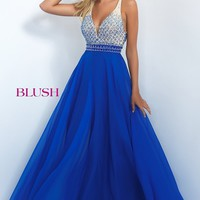 V-neck Formal Gown by Blush
