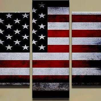 American Flag 5 piece Modular Wall Art