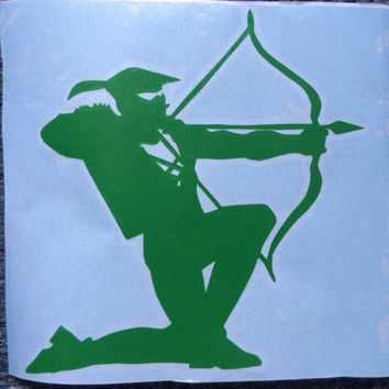 Handmade Green Arrow Vinyl Car Decal - Available in 10 Colors