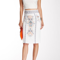 Champagne & Strawberry Pencil Skirt