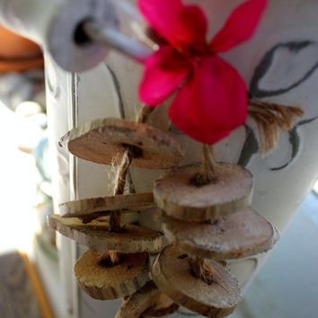 Driftwood Slices / Beads With a Natural Hole , Driftwood Supplies , Eco Friendly Arts & crafts DIY Garland