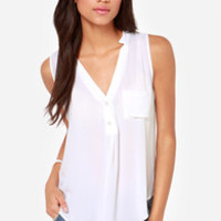 Adore You Ivory Tank Top