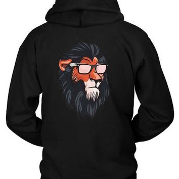 ESBH9S The Lion King Cool Summerish Scar Hoodie Two Sided