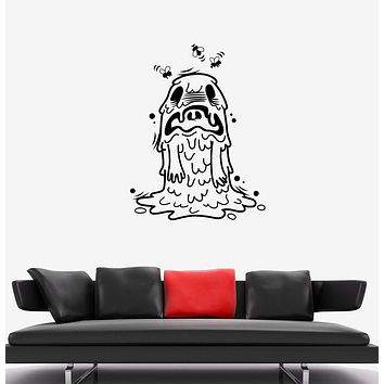 Wall Decal Funny Monster Stinky Dirt Scarecrow For Children Room Vinyl Sticker Unique Gift (ed628)