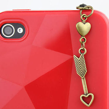 3.5mm Retro Bronze Arrow Dust-proof Plug  for iphone 4s,iPhone 4,iPhone 3gs,iPod Touch 4,HTC,Nokai,Samsung,Sony