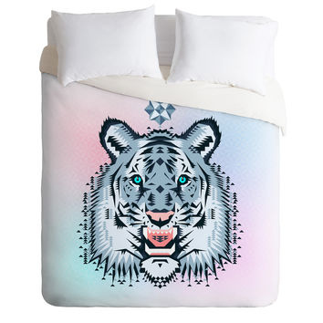 Chobopop Snow Tiger Duvet Cover