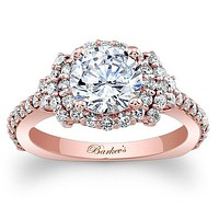 Barkev's Elegance Halo Diamond Engagement Ring