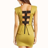 strappy-studded-peplum-dress BLACKSLVR OLIVESLVR - GoJane.com