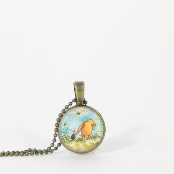 Little Pooh and Piglet Petite Small Layering Necklace Pendant Jewelry