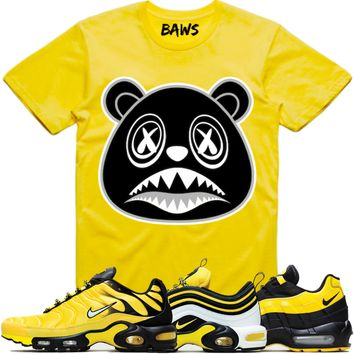 OREO BAWS Yellow Shirt - Nike Air Max Frequency Pack Bumble Bee