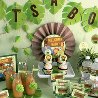 Jungle Theme Baby Shower Printable Party Decoration Kit- INSTANT DOWNLOAD