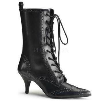DCK7YE Pleaser Female 2 3/4 Inch Heel, Wingtip Lace-Up Mid Calf Oxford Boot FURY100