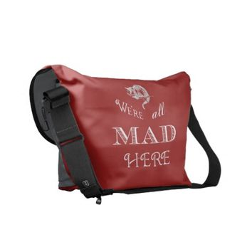 Cheshire Cat Mad Messenger Bag