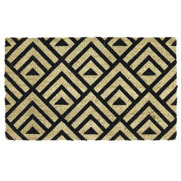 Geometric Theme Coir Doormat