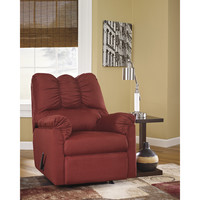 Flash Furniture Signature Design by Ashley Darcy Rocker Recliner in Salsa Fabric [FSD-1109REC-RED-GG]