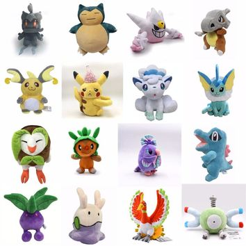 16 Styles NEW Cartoon Anime Snorlax Eevee Pika Plush Toys Children Gift Kawaii Baby Kids Toy pkm Soft Stuffed Plush Doll